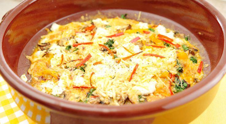 Frittata met paprika en champignons | Gezond en Low carb | Pinterest