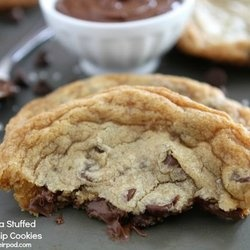 Giant Nutella Stuffed Chocolate Chip Cookies — Punchfork