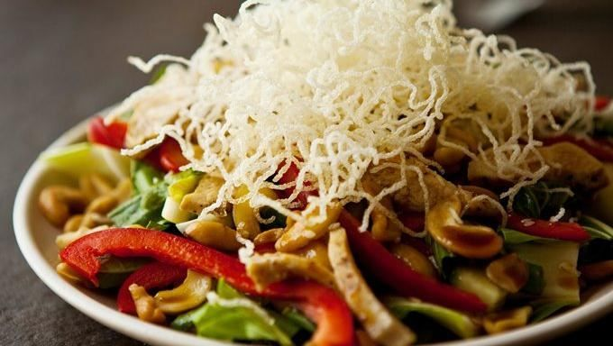 ... beautiful and healthy Asian salad made with baby bok choy and cashews