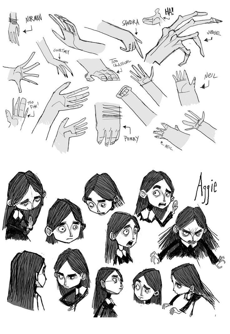Dibujar manos de niña infantiles