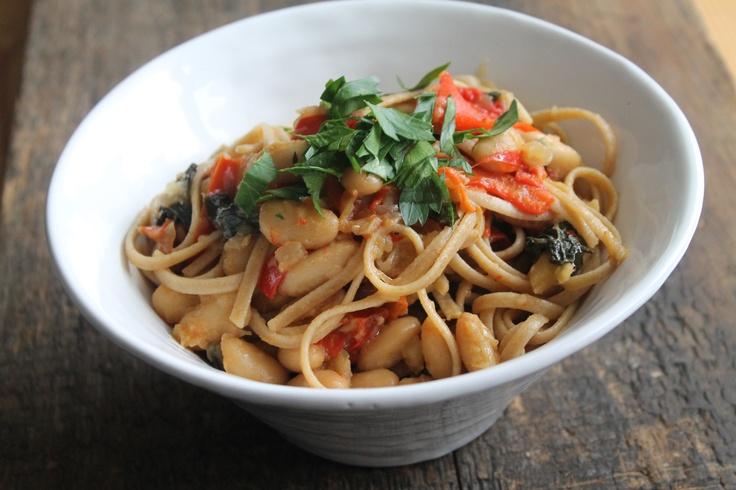 Fennel, Pepper, White Bean, & Kale Pasta | Delicious & Healthy | Pint...