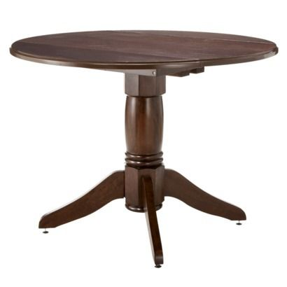 Threshold 42 Expandable Pedestal Dining Table Dark Tobacco