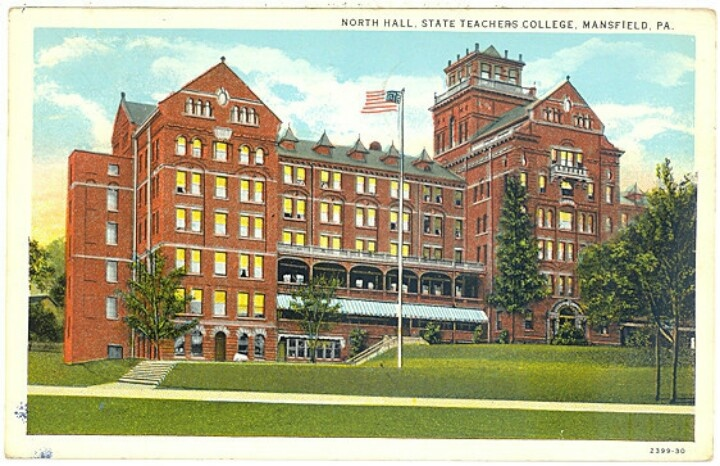Picture postcard of North Hall Mansfield University