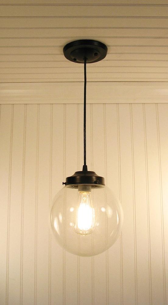 light fixture vintage 39 clear globe pendant light 39 biddeford. Black Bedroom Furniture Sets. Home Design Ideas
