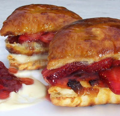 Strawberryand Cream Napoleon | dessert | Pinterest