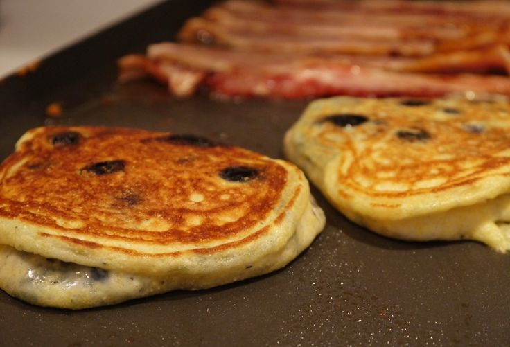 best pancakes ever! easy blueberry pancakes with cornmeal recipe