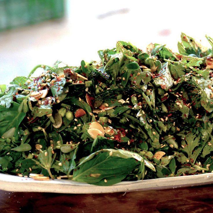 Green herb salad | Food: salads/veggies | Pinterest