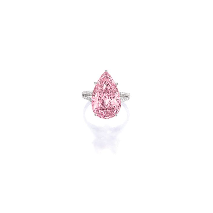 Superb and Highly Important Fancy Vivid Purple-Pink Diamond and Diamond Ring, mounted by Sotheby's Diamonds | Lot | Sotheby's