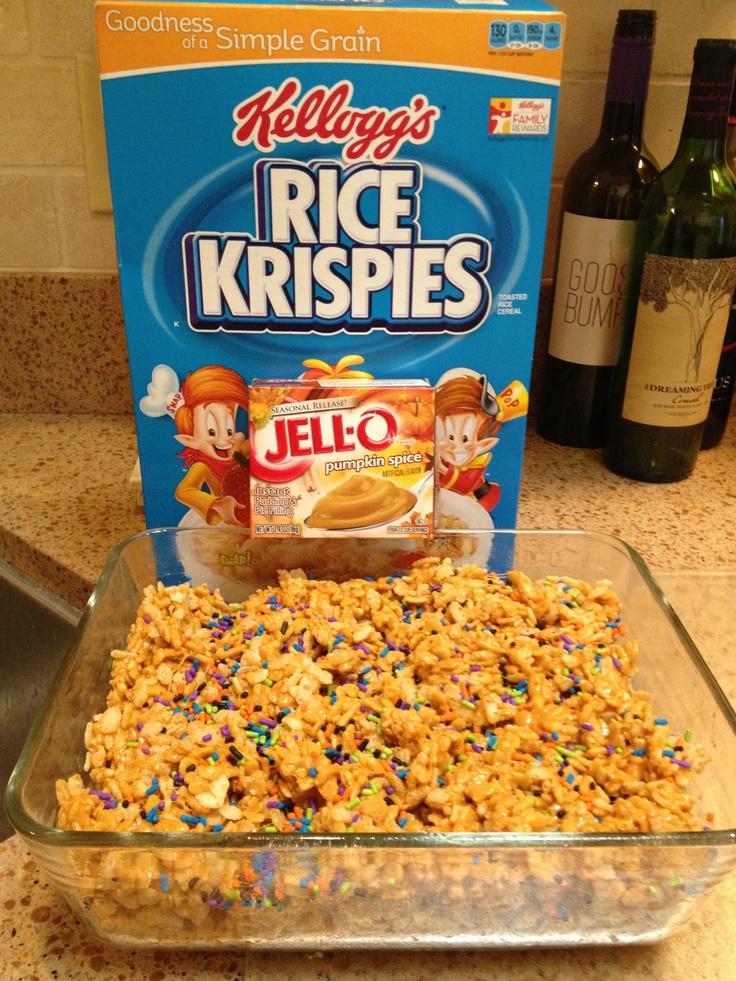 Pumpkin Spice Rice Krispie Treats | Holidays~Fall | Pinterest