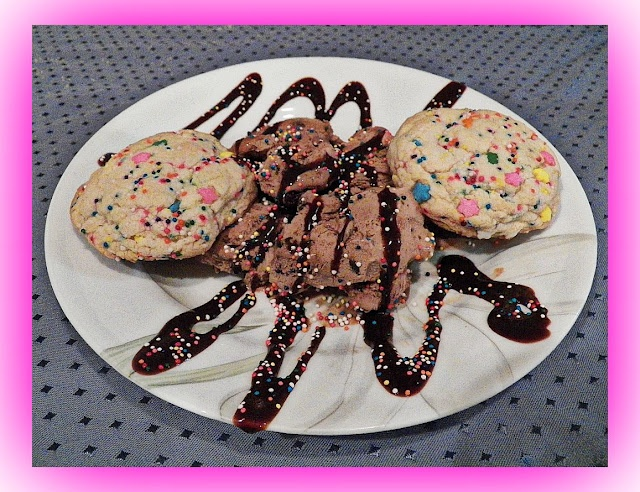 to make vanilla sprinkle cookies (shown with Girl Scout Thin Mint ice ...