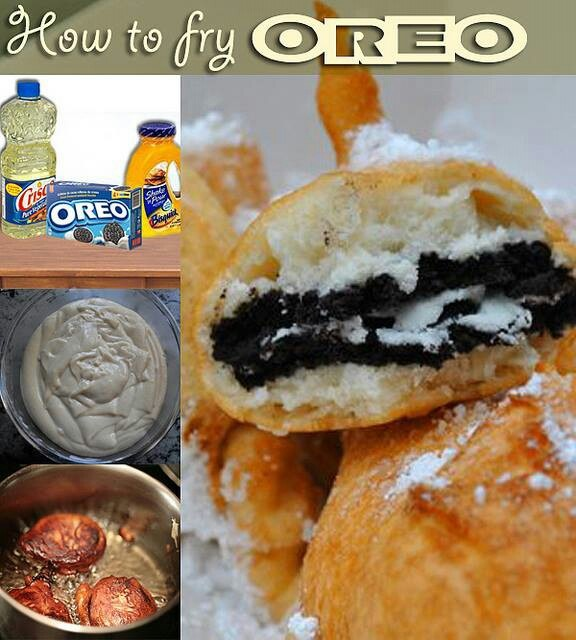 Deep fried oreos | Fried Tasty Treats | Pinterest