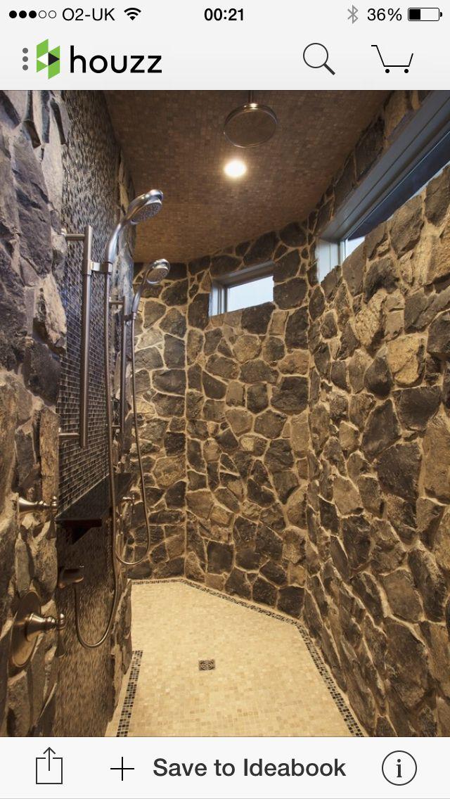 Walk through shower new house ideas pinterest for House plans with walk through shower