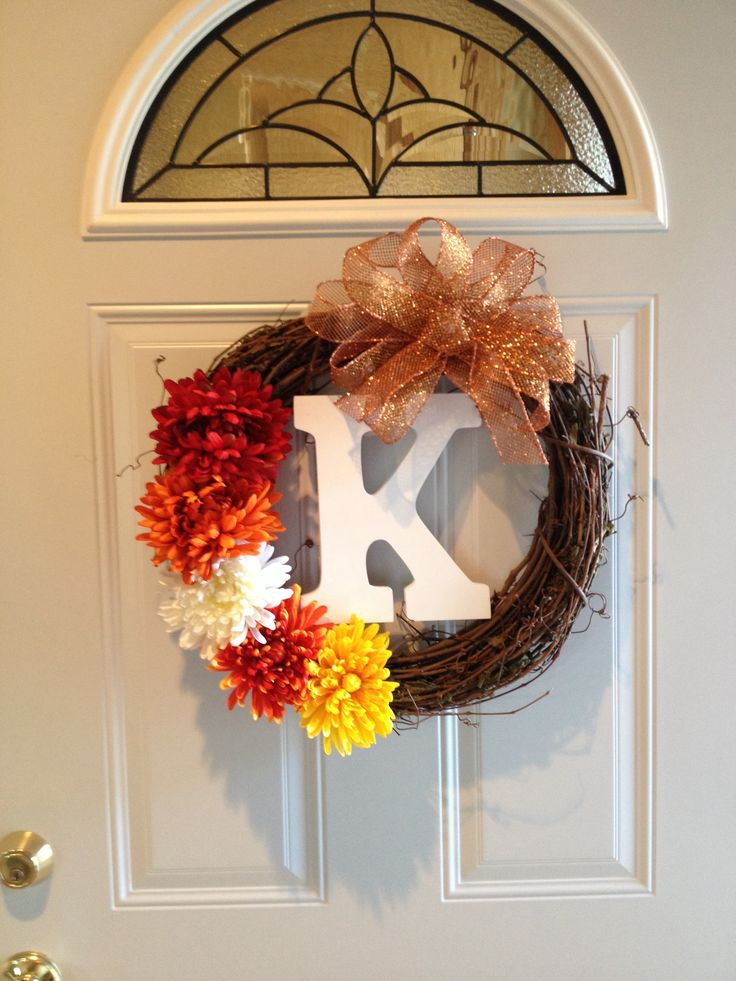Diy Fall Door Wreath Sewing Crafting Diy Pinterest