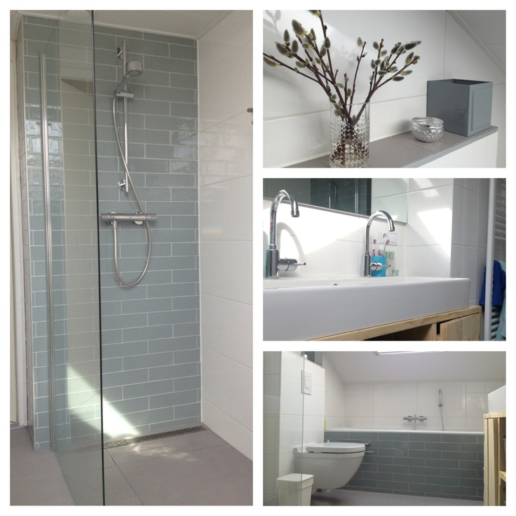 White Light Grey And Some Light Wood Ensuite Bathroom Pintere
