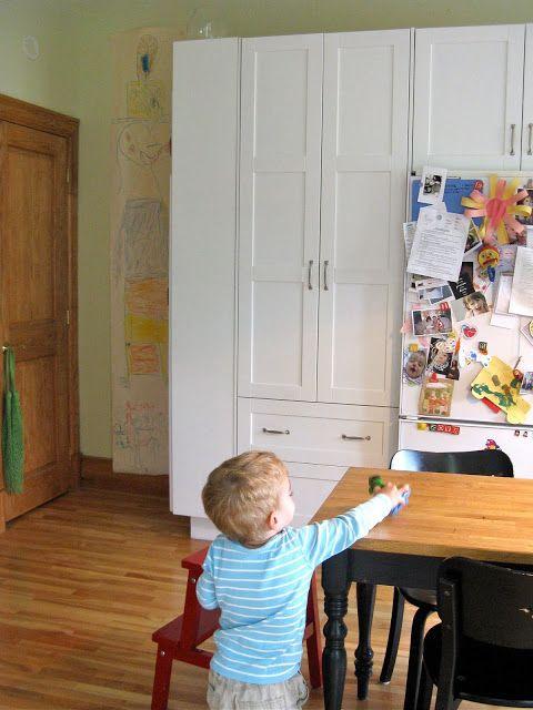 Ikea hackers customized kitchen pantry kitchens pinterest