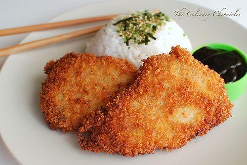 Tonkatsu-Japanese Panko fried thin Pork Cutlets with Tonkatsu Sauce ...
