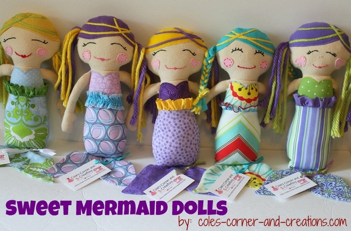 these mermaid dolls are SO cute! from Cole's Corner and Creations ...