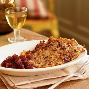 Root Vegetable Latkes  - wonderful flavour, you don't need sour cream ...