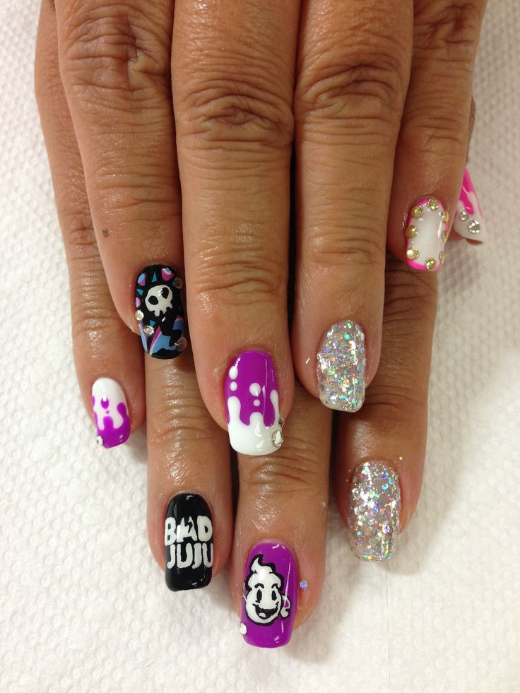 Dripping Bad juju gel nails! | nails and eyelash extensions by Mai