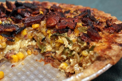 Corn and Bacon Pie | B A C O N | Pinterest