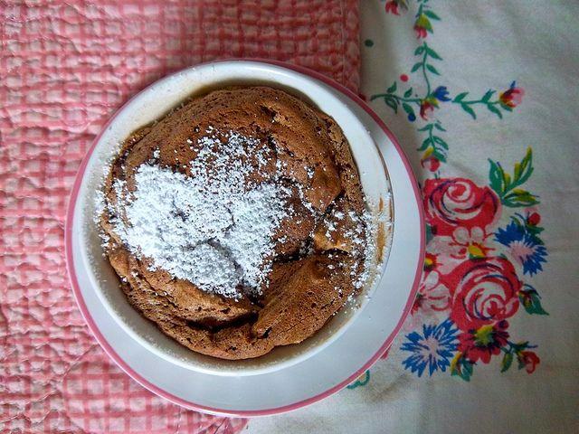 mini chocolate truffle souffles | desserts | Pinterest