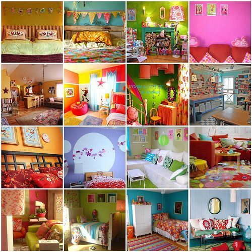 colorful rooms