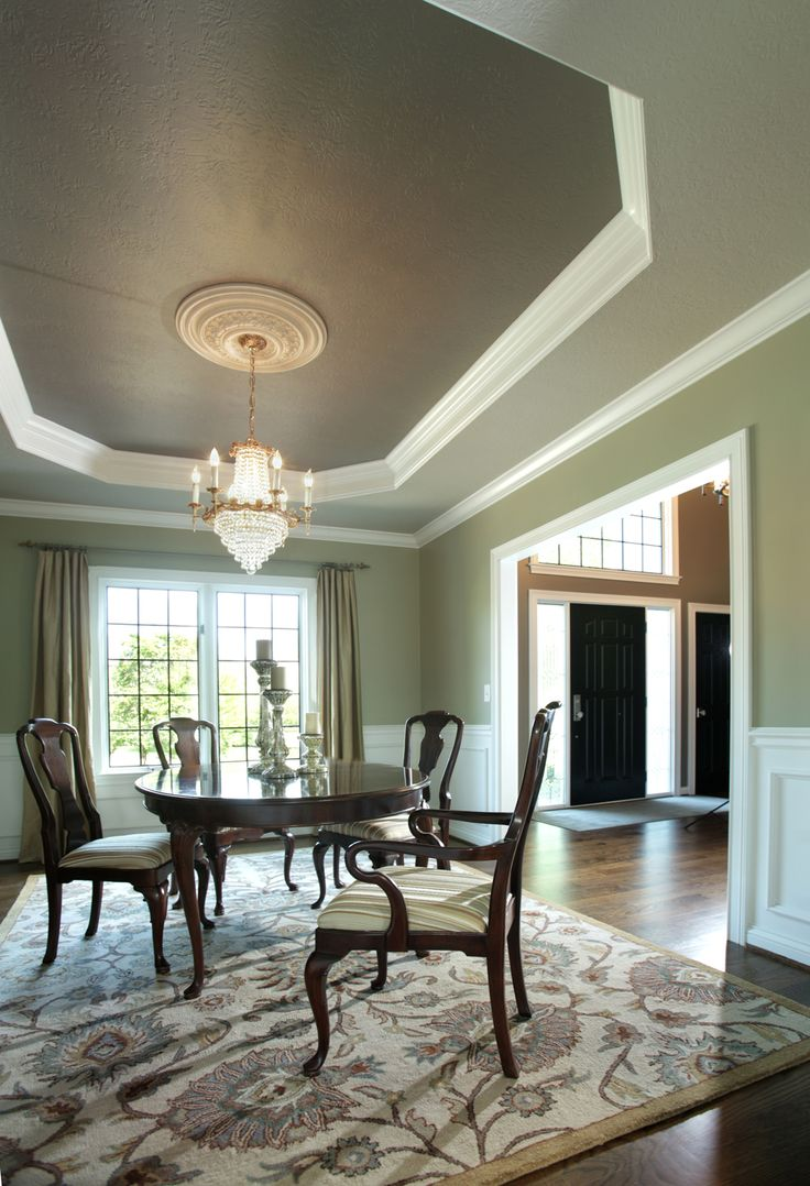 This dining room came alive with some new paint colors. The grates in ...