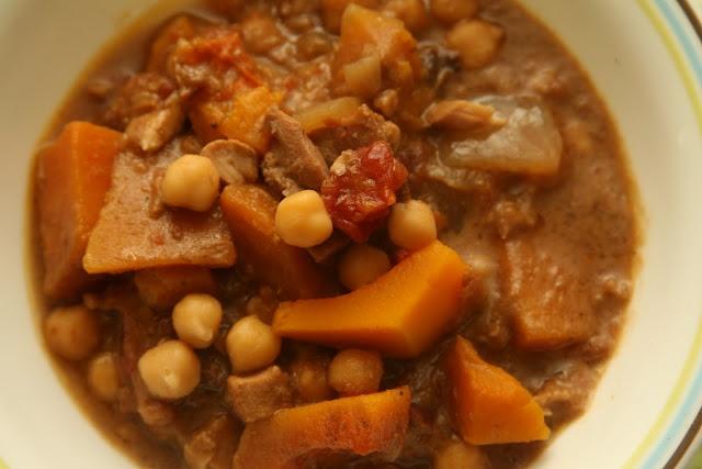 African Chicken Chickpea Peanut Stew--GF/Primal/Paleo