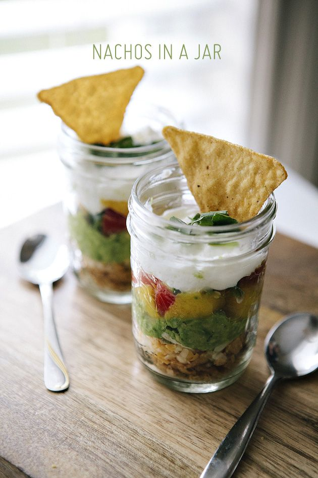 nachos in a mason jar!