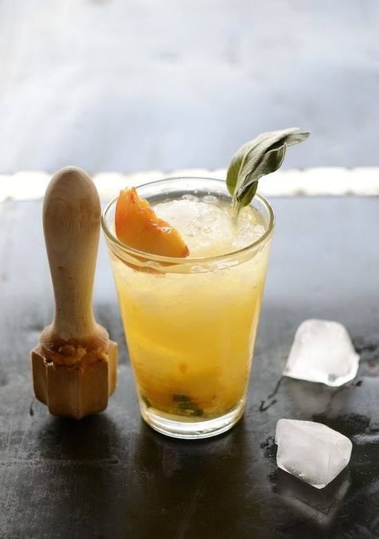 Peach, Gin, Sage, Ginger, And Cardamom | What We Sip | Pinterest