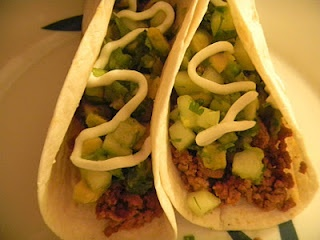 Tacos with Cucumber-Avocado Salsa | The Heart of Cooking | Pinterest