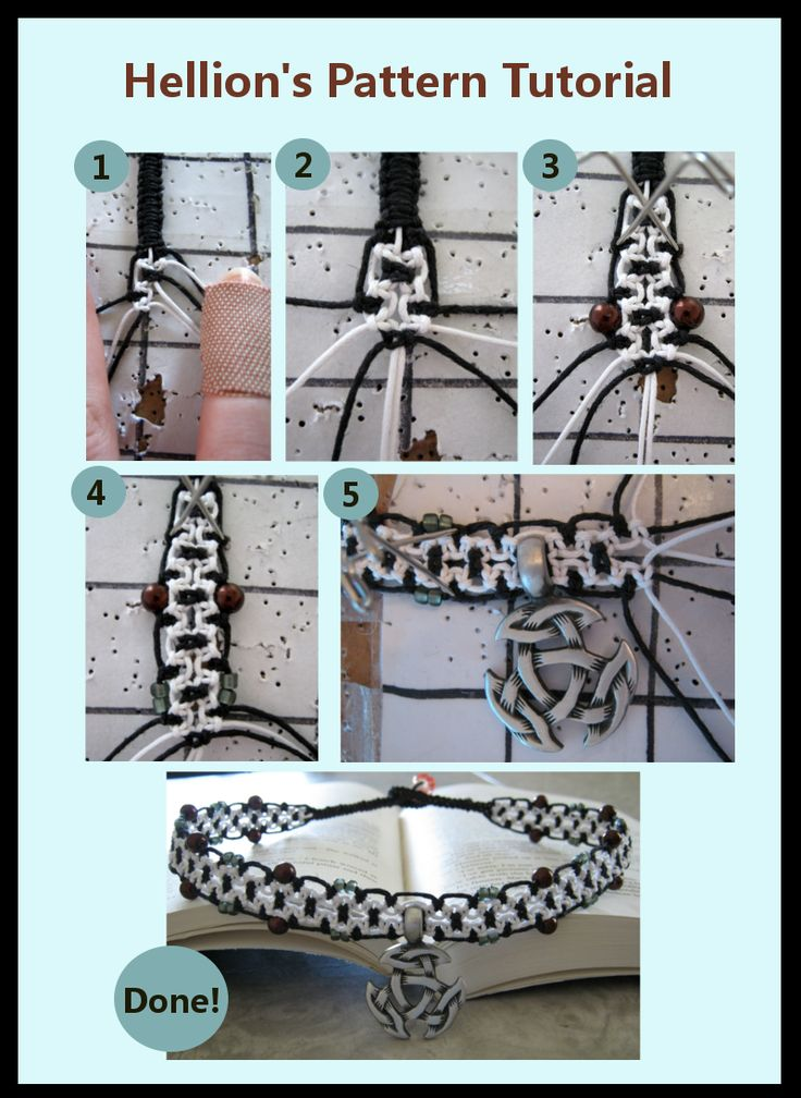 Bi-Color Macrame Tutorial by =ChaosFay on deviantART