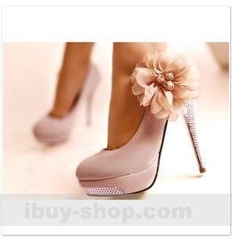 enske cipele atikle s cvijetom visoka peta