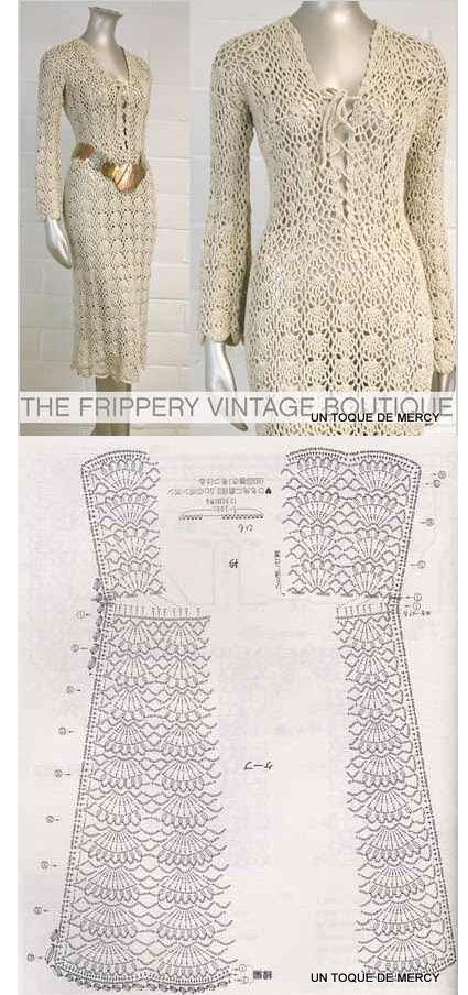 Crochet Jacket Free Pattern Via Garn Studio : vestuario on Pinterest Crochet Dresses, Crochet Tops and ...