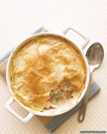 Lighter chicken pot pie - http://www.marthastewart.com/317035/lighter ...