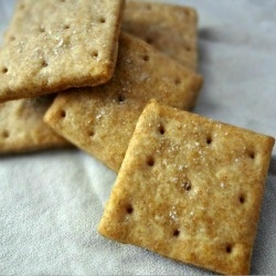 Homemade Whole Wheat Ritz Crackers and smoked cheese that is what the ...