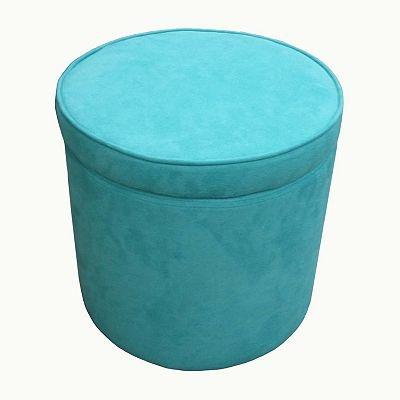 microsuede storage ottoman turquoise pinterest