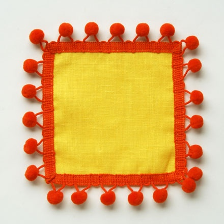 Pom Pom cocktail napkin | Don't Need. But Sure Do Want. | Pinterest