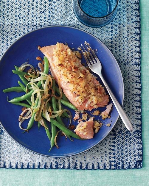 Honey-Mustard Salmon with Green Beans - Martha Stewart Recipes