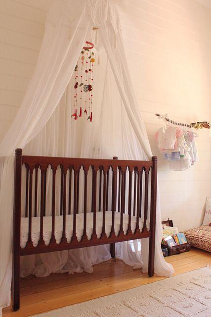 Bohemian nursery boy : Baby nursery crib canopy