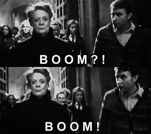 Love this part!! McGonagall is the best!!!