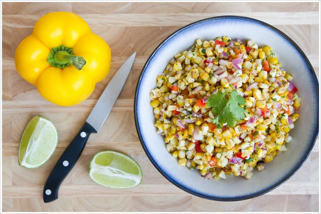 Recipe: Roasted Corn Salsa | Appetizers | Pinterest