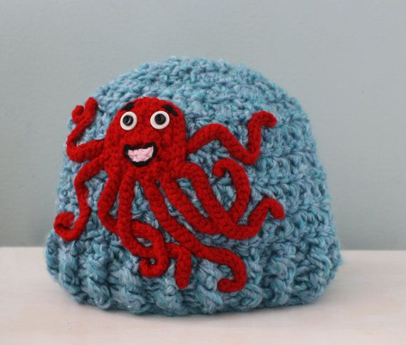 Crochet Octopus Hat : Octopuses