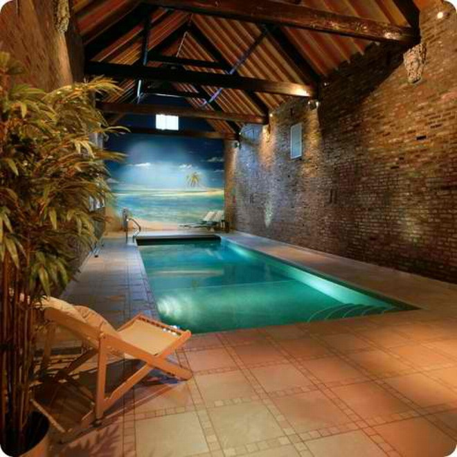 Indoor Swimming Pool Log Cabin Pinterest