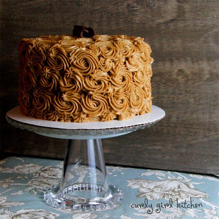 Mocha Rum Cake with Cappuccino Rum Buttercream