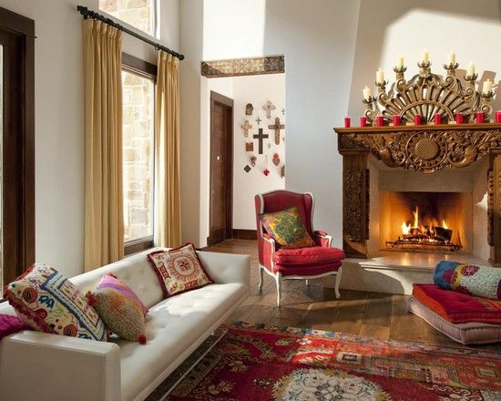 Living Room Mexican Folk Art Design Pictures Remodel Decor And Ideas