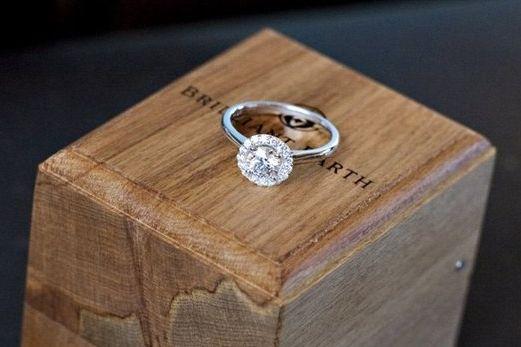 plain shank halo engagement ring wedding