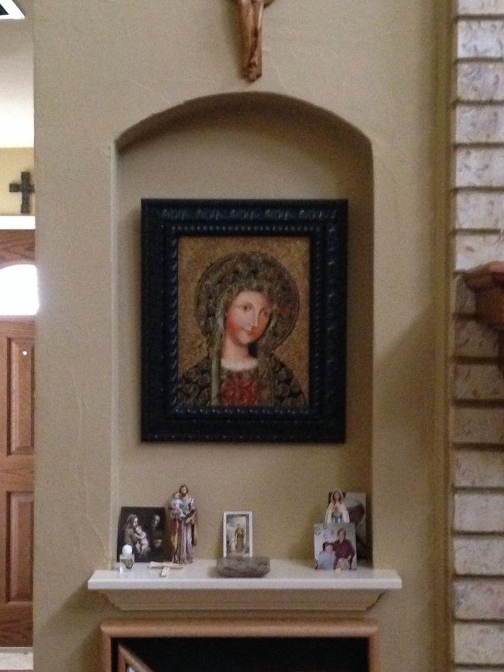 home altar designs.  Catholic Home Wall Mounted Altar Designs