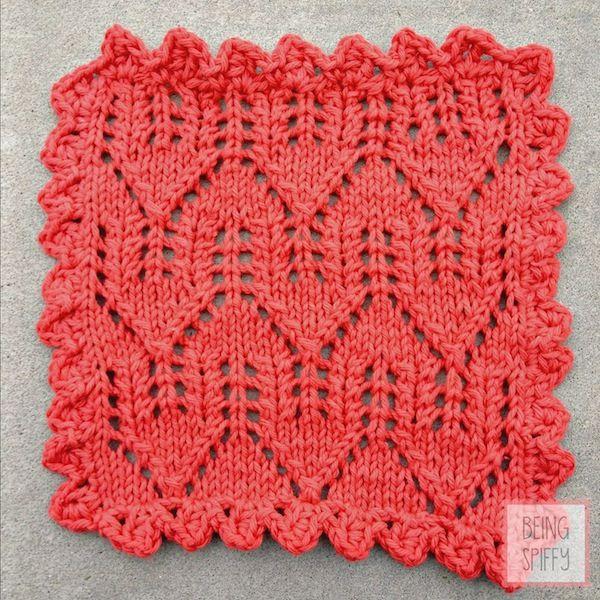 No Place Like Home Knit Dishcloth Pattern