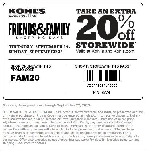 Kohls printable coupons 2019